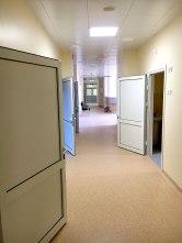 Long corridors.